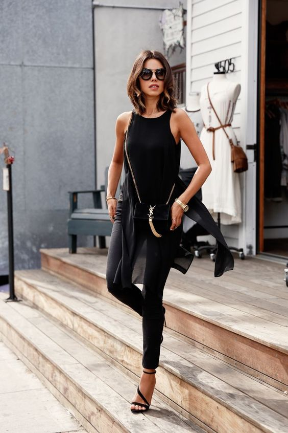 25 Timeless All-Black Summer Outfits For Girls - Styleoholic