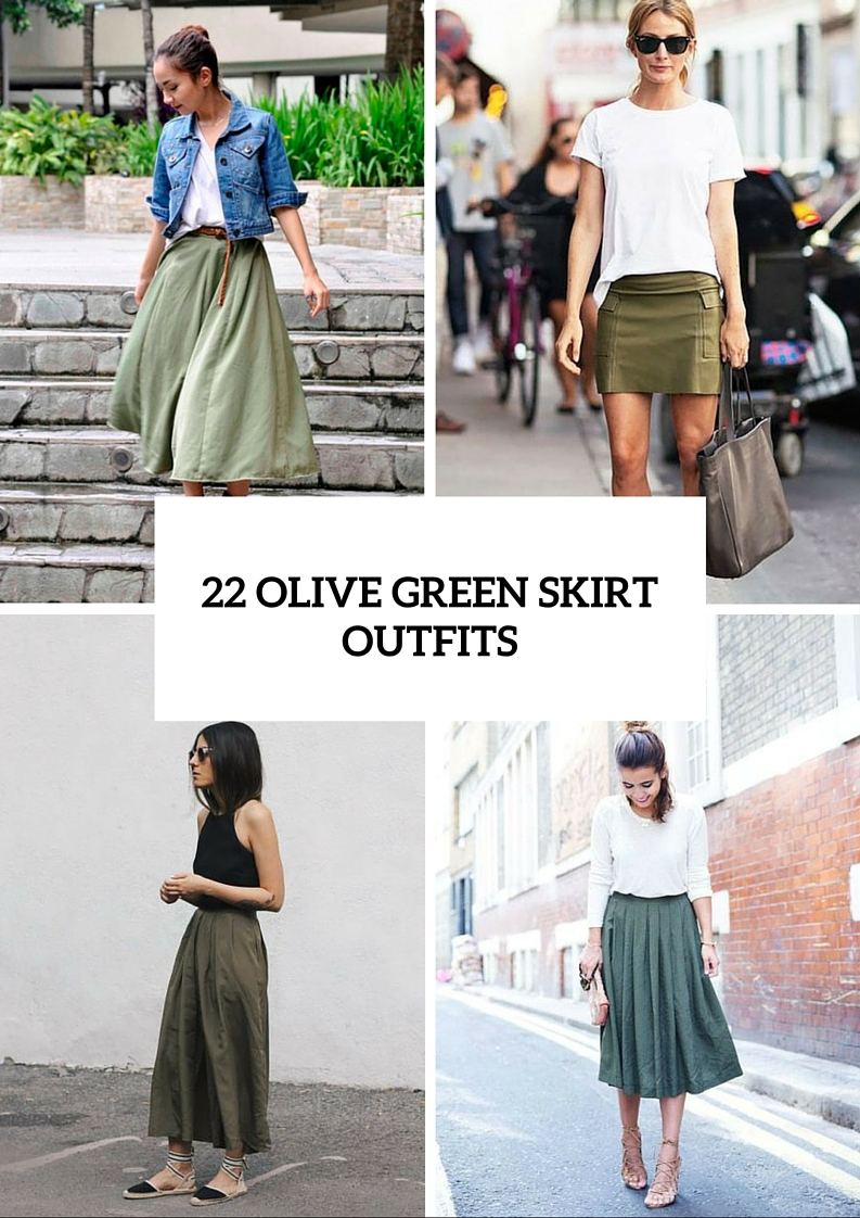 84f52eff30 22 Trendy Olive Green Skirt Outfits - Styleoholic