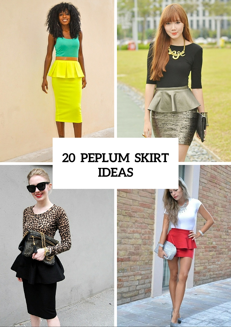 23 Charming Peplum Skirt Outfits