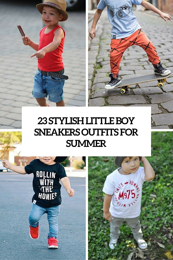 40be93c1874 23 Stylish Little Boy Sneakers Outfits For This Summer - Styleoholic