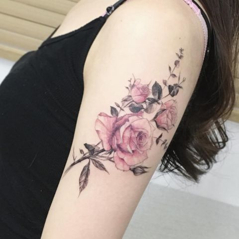 23 subtle watercolor rose