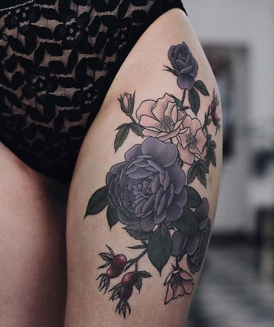 32 cutest flower tattoo designs for girls that inspire for How much are white tattoos