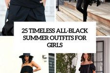 25 timeless all-black summer outfits for girls cover