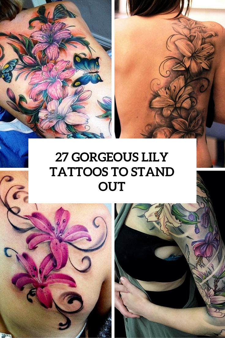 27 Gorgeous Lily Tattoos That Stand Out