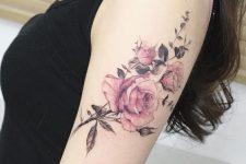 27 rose arm tattoo