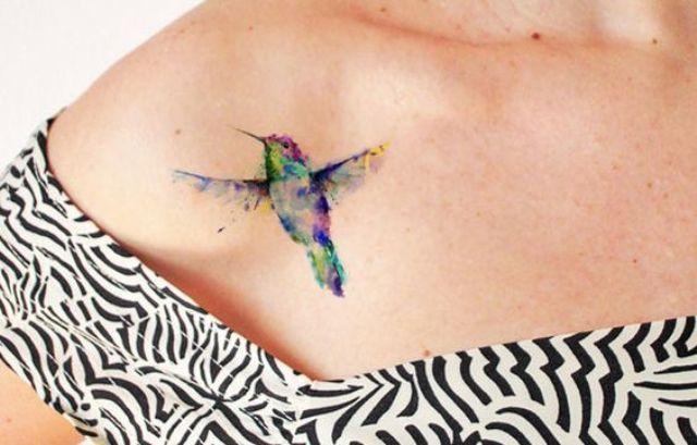 watercolor shoulder bird