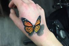 3D butterfly on a hand
