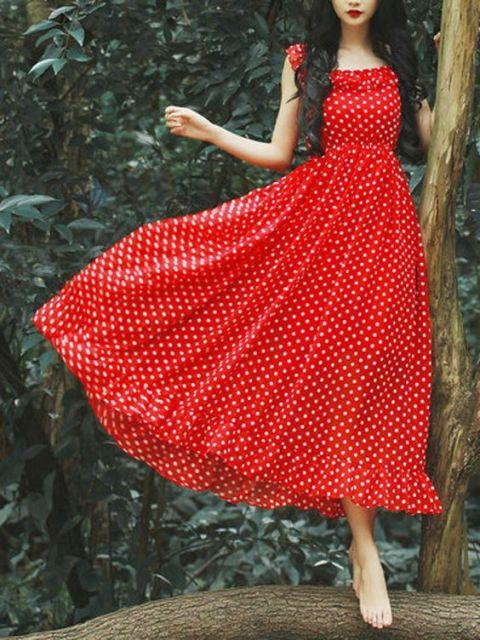 Colorful midi dress