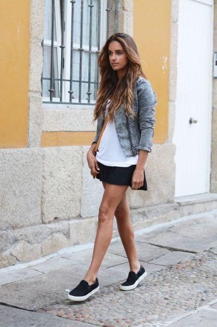 brave black mini skirts outfits 5