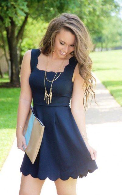 Cool blue dress for summer days