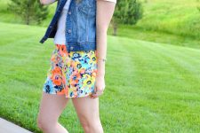 Cute outfit with vest for summer