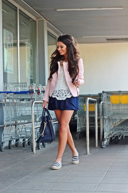 Girlish look with espadrilles