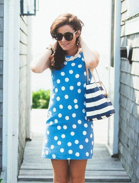 With nautical styled bag