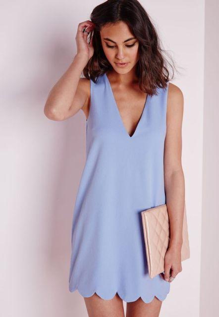 Simple V-neckline dress