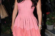 Unique pink dress for parties