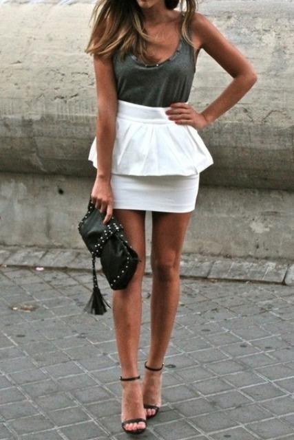 4f7eda9d10 23 Charming Peplum Skirt Outfits - Styleoholic