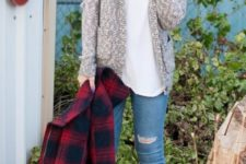 a cozy sweater outfit