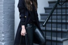 all-black outift