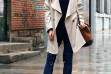 fall rainy day outfit idea