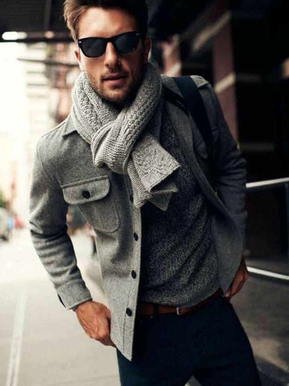 denim, a grey jersey and a felt jacket