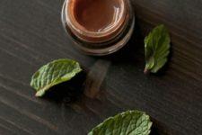 10 chocolate lip balm with mint