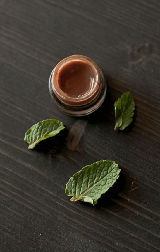 chocolate lip balm with mint