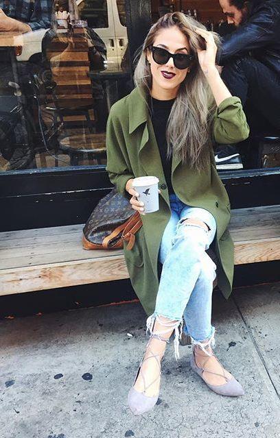 28 Stylish Fall Outfits With Flats Styleoholic