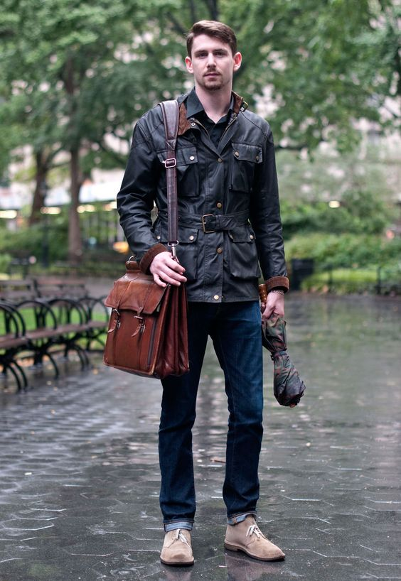 How to wear a leather jacket at work