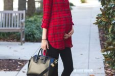 red plaid shirt outfit