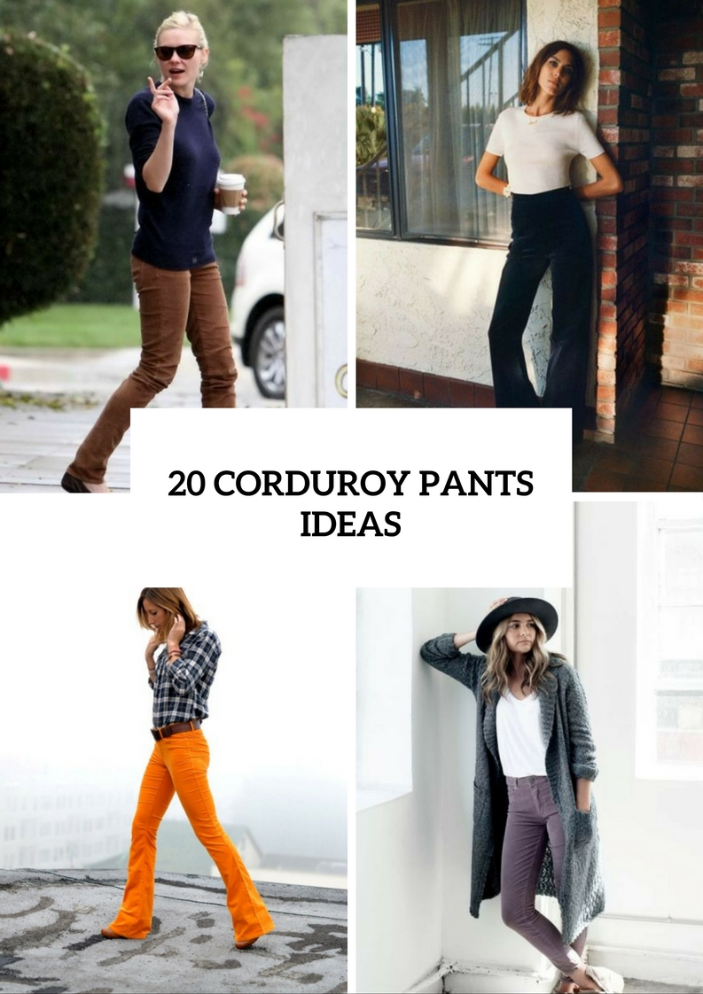 Stylish Outfits With Corduroy Pants