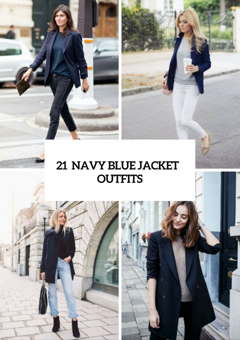 Adorable Ideas For Girls To Wear Navy Blue Jackets