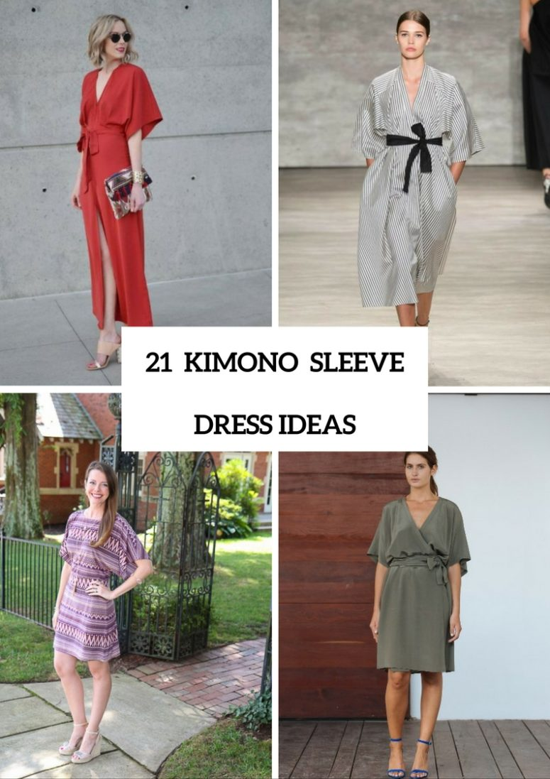 21 Adorable Kimono Sleeve Dress Ideas To Try