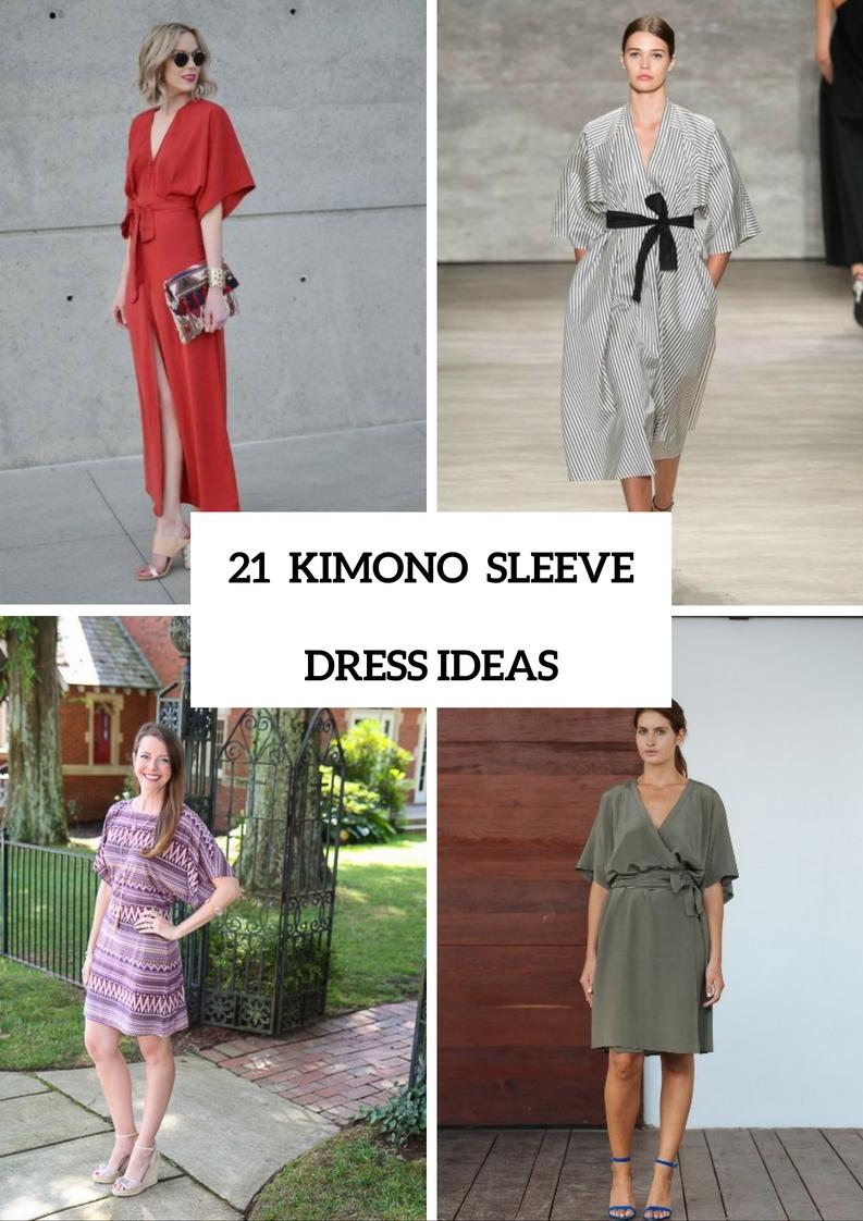 Adorable Kimono Sleeve Dress Ideas To Try