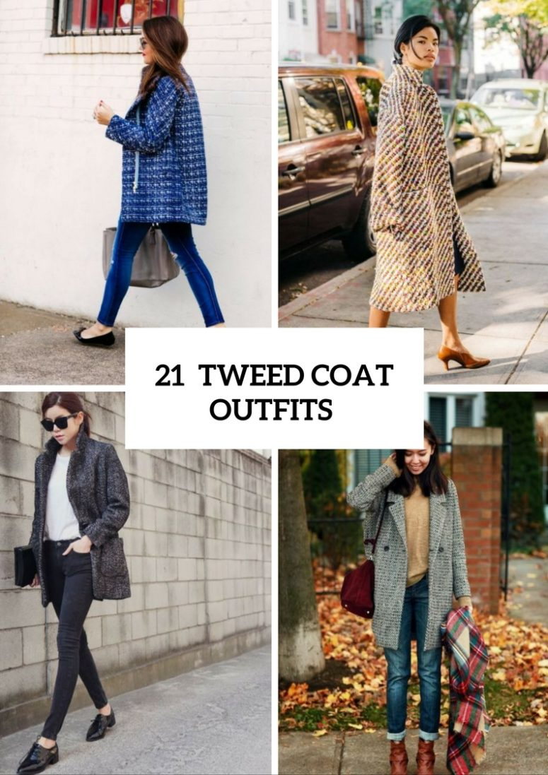 Adorable Tweed Coat Outfits For Ladies