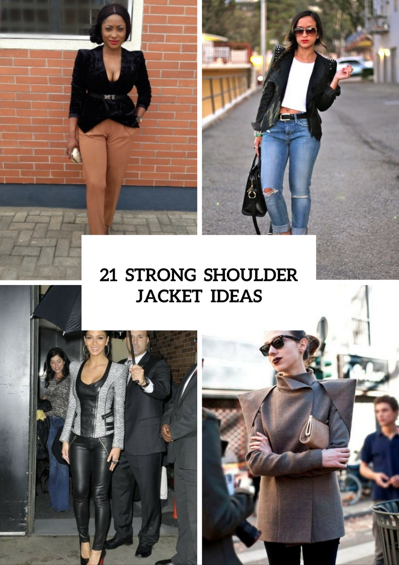 Strong Shoulder Jacket Outfits For This Fall