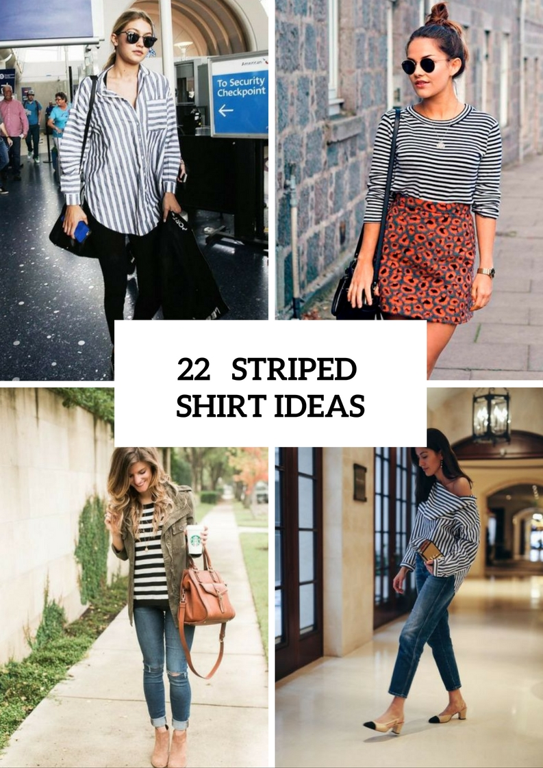 Charming Striped Shirt Outfits To Repeat
