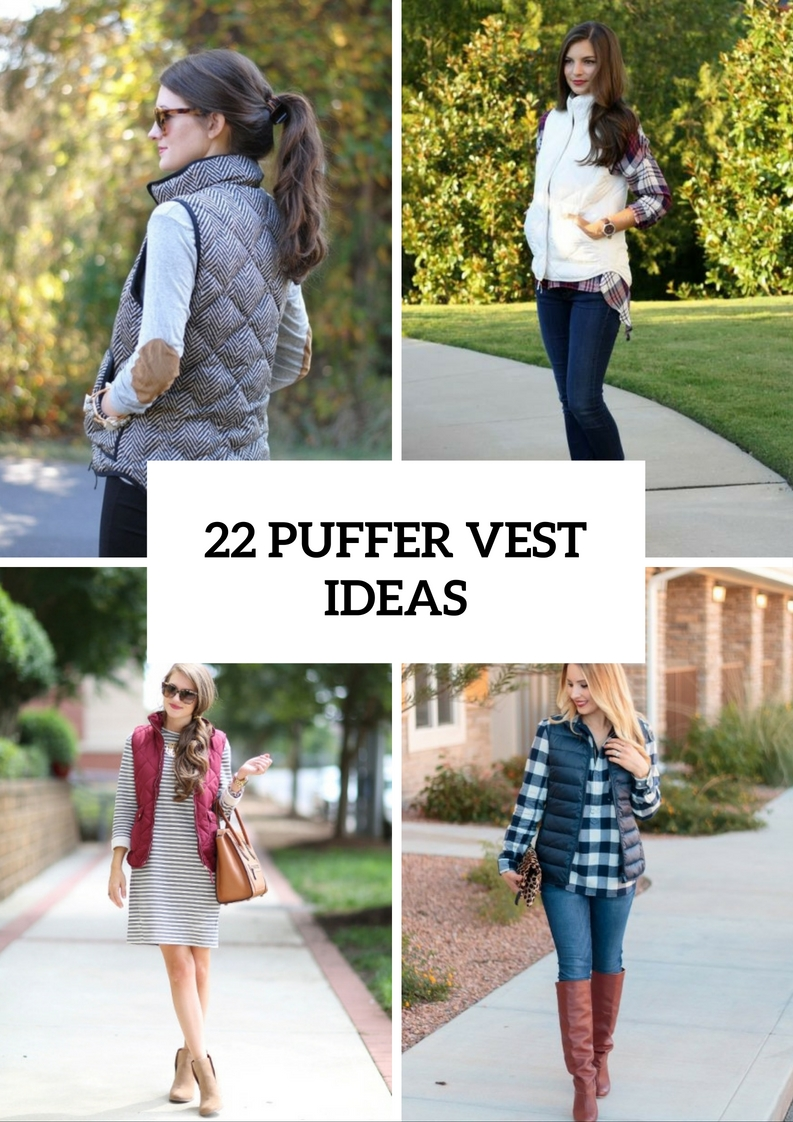 Comfy Puffer Vest Outfits For This Fall