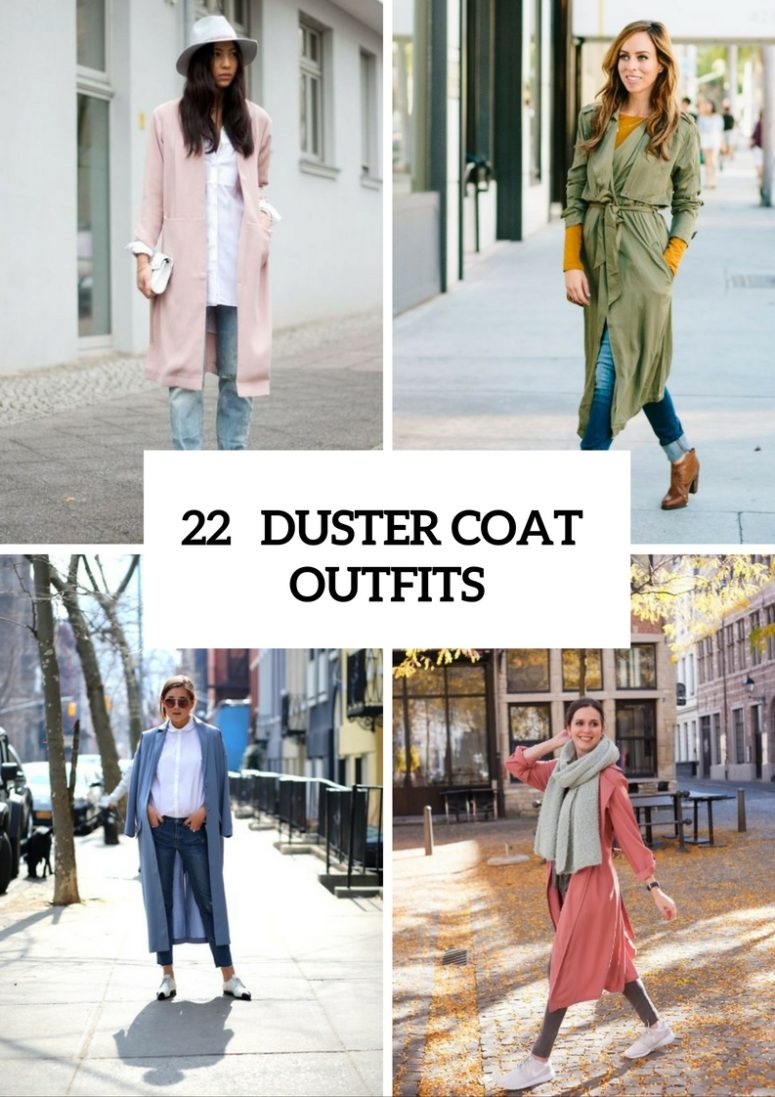 Fashionable Duster Coat Outfits