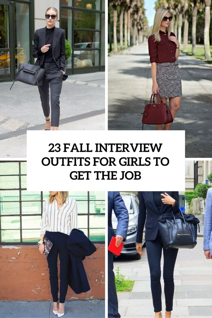 23 Fall Interview Outfits For Girls To Get The Job