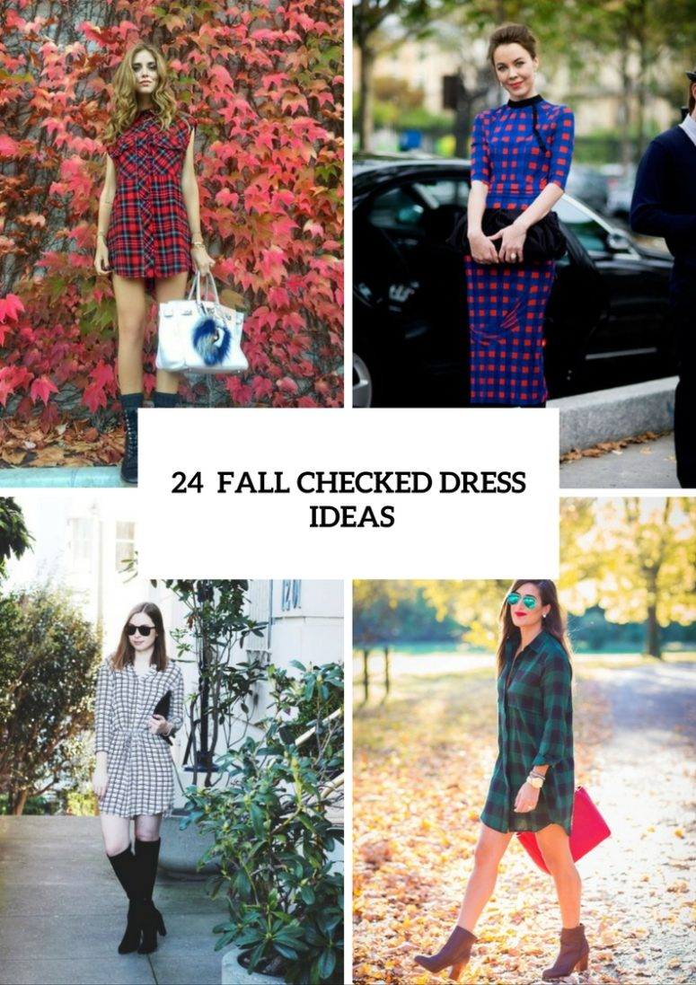 24 Stylish And Cozy Checked Dress Ideas For This Fall