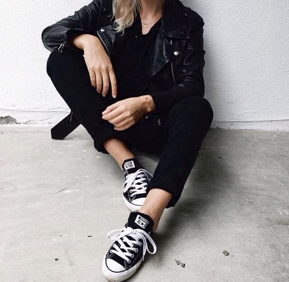 all black converse outfit - photo #40