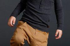 24 ocher pants, a black long-sleeve and ocher oots