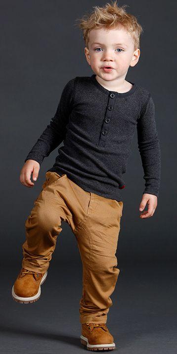 ocher pants, a black long-sleeve and ocher oots