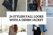 24 stylish fall looks with a denim jacket cover