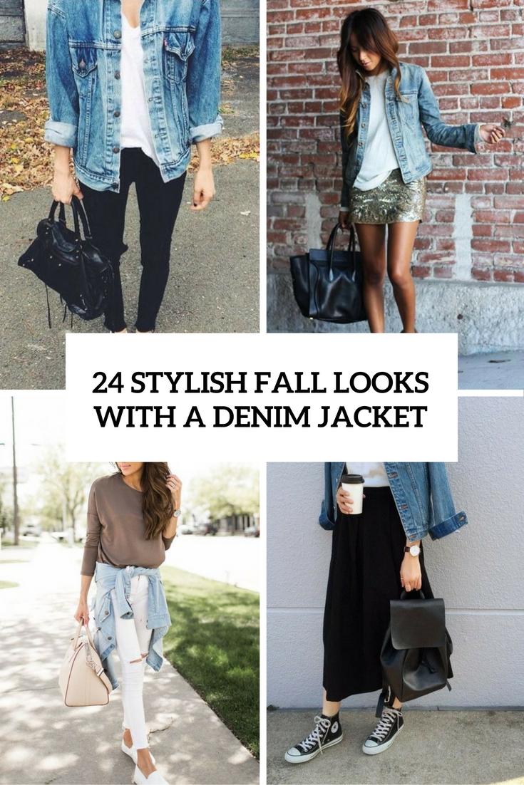 24 Stylish Fall Looks With A Denim Jacket