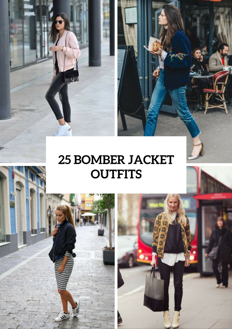 Trendy Bomber Jacket Outfits For This Season