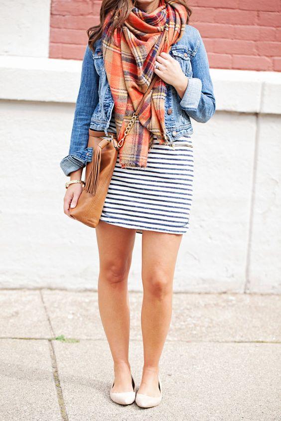 24 Stylish Fall Looks With A Denim Jacket Styleoholic