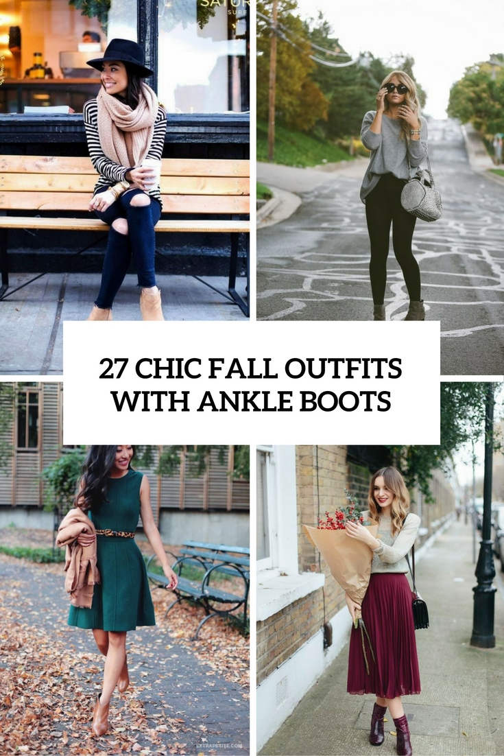 chic fall outfits with ankle boots cover