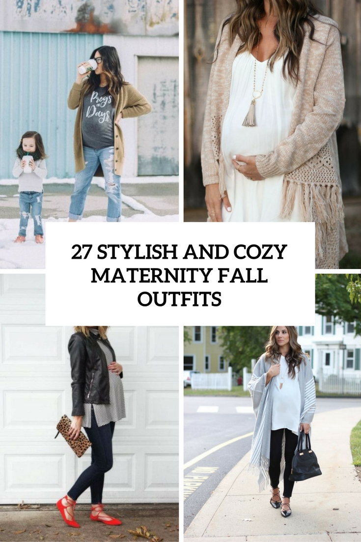 comfy and stylish maternity fall outfits cover