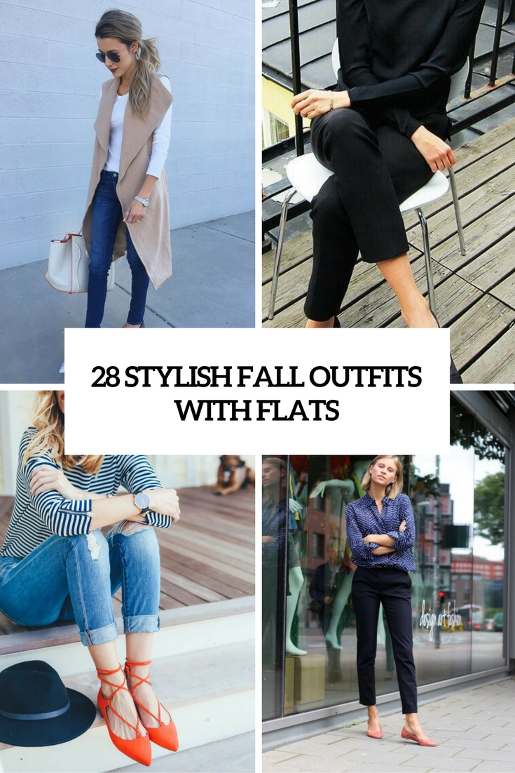 stylish fall outfits with flats cover